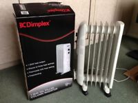 Dimplex Free Standing Oil Filled Radiator, as new