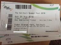 The Solihull Summer Festival 2018 Tickets - VIP x5