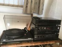 Beautiful sound,full working sound system Technics 4items in 1,,,,CD,Cassette,Amplifier,LP