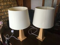 Two Large Table Lamps