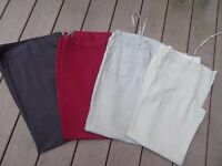 Ladies trousers X four, one BNWTs, River Island, Miss Selfridge, Oasis and George (size 10)