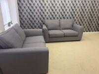 High Street Oxford Street 2 Seater & 2 Seater Fabric Sofa