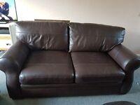 Gorgeous Dark Brown Italian Leather Sofa