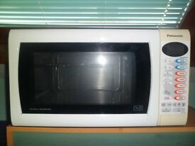 900w Panasonic microwave/grill/browner,digital display,114cmx51cmx29cm,turntable33cm,27 L capacity