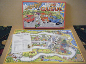 """JUMP THE QUEUE"" board game. Spears games 1989. Complete."