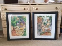 2 Ikea prints in frames