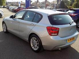 BMW 1 SERIES 116D EFFICIENTDYNAMICS BUSINESS 5dr * Leather & Na (silver) 2014
