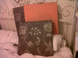 Canvas x3 Wallpapered 45cm x 45cm