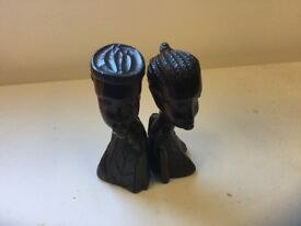 Hand carved wooden figures(man and woman)