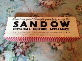 SANDOW Chest expander 1950s original box