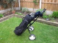 Set of Golf clubs with trolley and extras