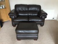 Reids three seater sofa, two seater sofa and footstool