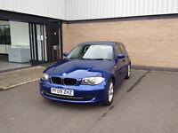 1 series bmw116 sport blue, 5 door 32,000 miles