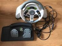 Mad Katz steering wheel for Xbox and pc