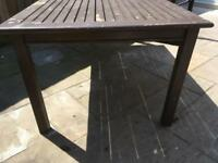 Garden table approx 200cm x 100cm