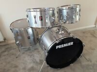 Vintage Premier drum kit , Mahogany shells , Made in England 1970's