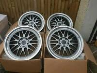 """Brand new 19"""" BBS LM style alloy wheels 5x120 pcd bmw T5"""