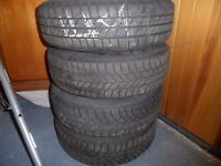 BMW Mini 175x65x15 winter tyres on steel wheels/wheel trims