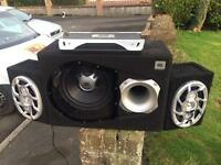 Amazing! JBL Sub + Ministry of Sound 6x9's in custom boxes