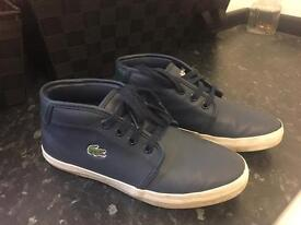 Boys leather Lacoste boots size 13