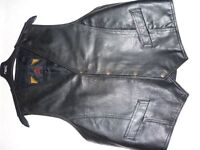 Black Leather Waistcoat (As new)