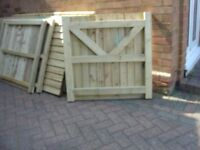 FULLY PREASURE TREATED 3X3 WOODEN GARDEN PICKET GATE
