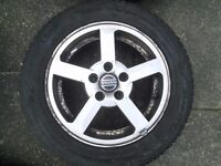Alloy wheels and tyres good condition off Volvo/ford
