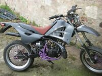 x2 gilera 50 cc enduro trail bikes v5,s.runs spares or repair project NO SWAPS READ ADVERT