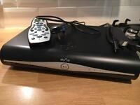 Sky + HD box, cables and remote