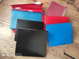 Folders, filing folders, sleeves