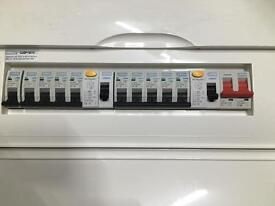 Split rcd 10 way consumer unit