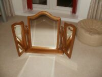 Mirrors for dressing table in pine