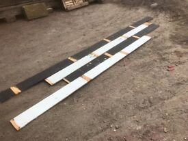Reclaimed pine square edge painted flooring or wall cladding