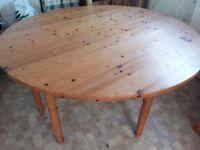 Large handmade gateleg pine table. Perfect for family Christmas