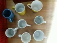 Eight mugs