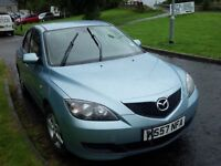 08 MAZDA(3) LOW LOW MILES ONLY 41750(SERVICE HISTORY) FULL YEARS MOT ANY INSPECTION VERY WELCOME