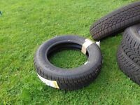 Winter Response Tyres 4 x part worn and 1 spare unused