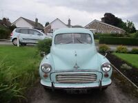 morris minor split screen 1956 4 door