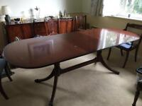 Reproduction Georgian Table and 6 Chairs