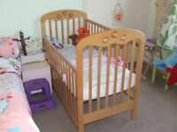 Wooden Mothercare cot in good condition