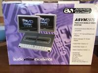 Twin car DVD system