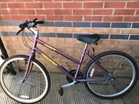 "Roseland Freespirit Mountain Bike; 16"" Purple Frame; 15 Gears; RECENTLY SERVICED"