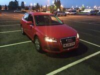 AUDI A3,2009,1.6petrol,red,92000miles,drives perfect,need good clean inside,no mot,qiuck sale.