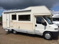 fiat ducato ci autoroller,7 berth with bunks,only 60k miles,lhd,superb for year! may px