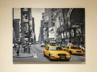 New York yellow taxi canvas picture