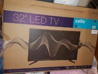 """32"""" Cello TV with T2 freeview and DVD"""