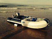Large inflatable Zodiac with 15hp Engine