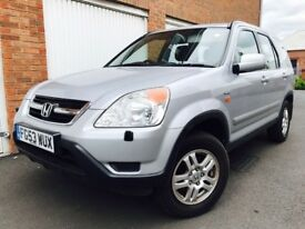 2003 53 Honda CRV** 2 Litre Petrol**4 x 4 AWD** Long MOT End OCT 18*Full S.H.*