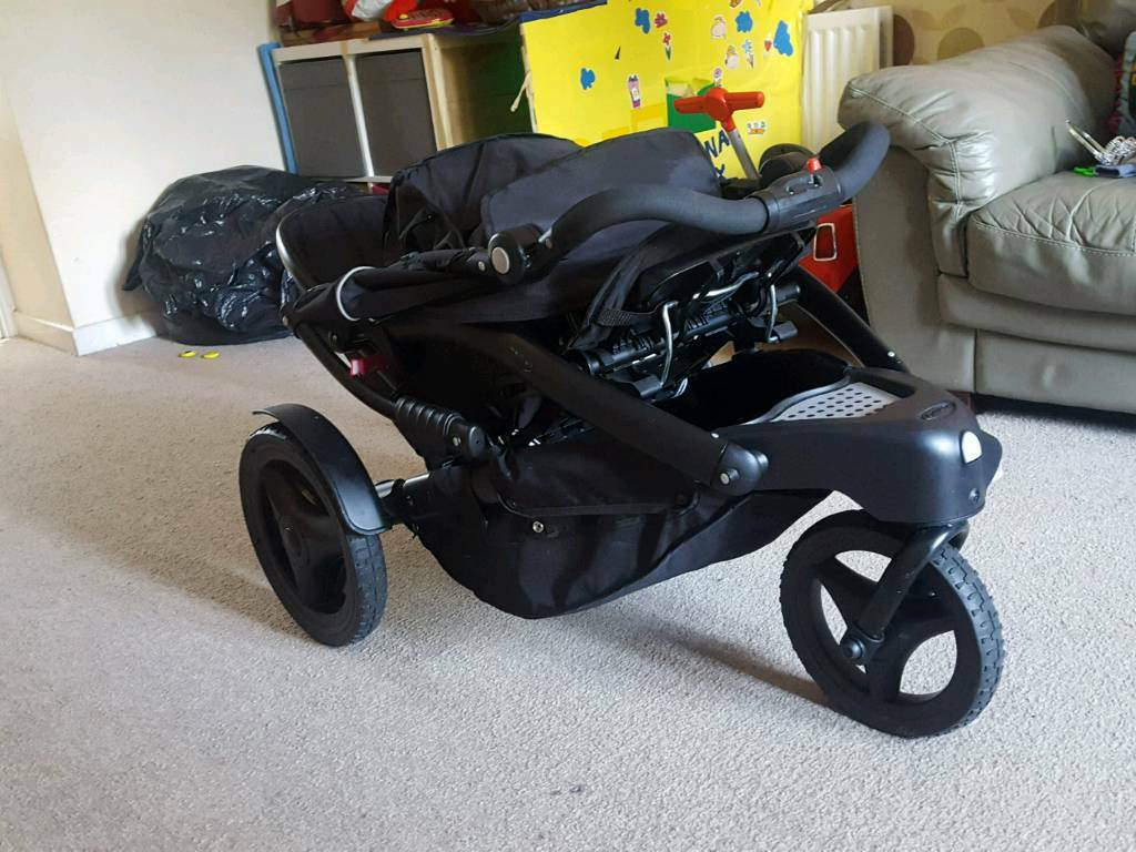 Double Pram Pushchair Graco Trekko