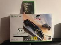 Xbox one with forza horizon 3 and fall out 4 - new and sealed